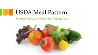 USDA Meal Pattern