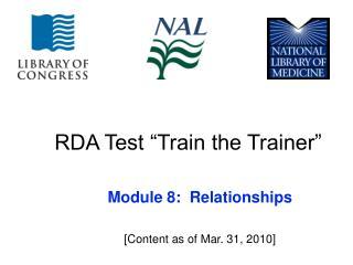 "RDA Test ""Train the Trainer"""