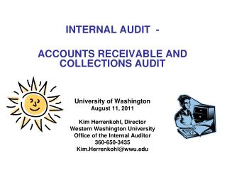 INTERNAL AUDIT  - ACCOUNTS RECEIVABLE AND COLLECTIONS AUDIT University of Washington
