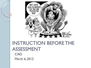 INSTRUCTION BEFORE THE ASSESSMENT