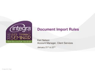 Document Import Rules