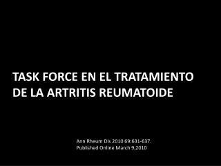 Task force  en el tratamiento de la artritis reumatoide