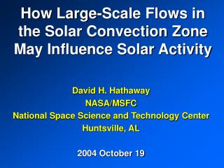 How Large-Scale Flows in the Solar Convection Zone May Influence Solar Activity