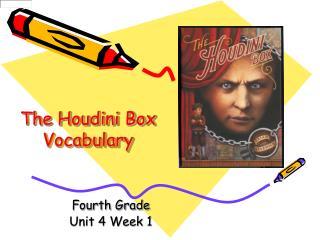 The Houdini Box  Vocabulary