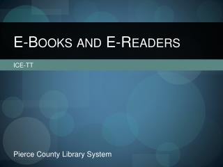 E-Books and E-Readers