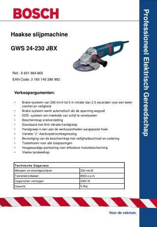 Haakse slijpmachine GWS 24-230 JBX