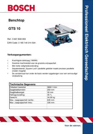 Benchtop GTS 10