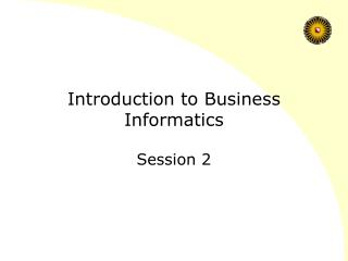 Introduction to Business Informatics