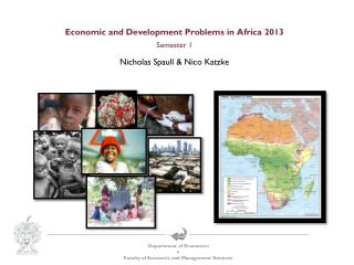 Economic and Development Problems in  Africa 2013 Semester 1