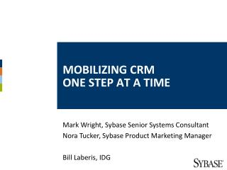 Mobilizing CRM  One Step at a Time