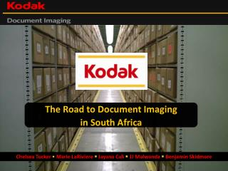 The Road to Document Imaging in South Africa