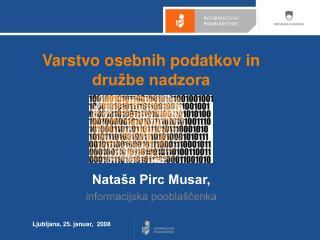 Varstvo osebnih podatkov in družbe nadzora