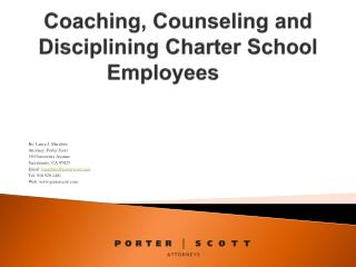 Coaching, Counseling and Disciplining Charter School Employees
