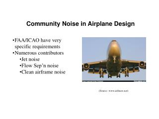 Community Noise in Airplane Design