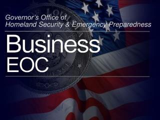 Governor�s Office of  Homeland Security & Emergency Preparedness
