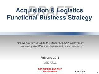 Acquisition & Logistics Functional Business Strategy