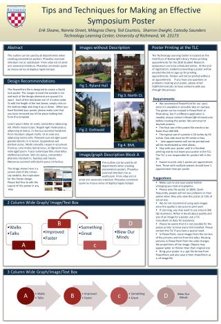 Tips and Techniques for Making an Effective Symposium Poster