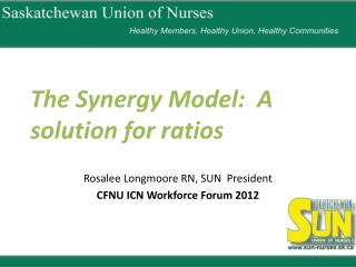 The Synergy Model:  A solution for ratios