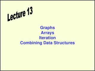 Graphs Arrays Iteration Combining Data Structures