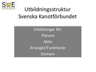 Utbildningsstruktur  Svenska Kanotförbundet