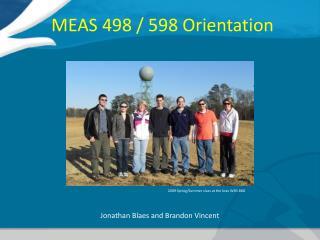 MEAS 498 / 598 Orientation