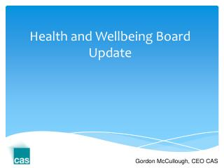 Health and Wellbeing Board Update