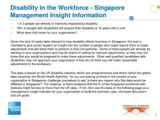 Disability in the Workforce - Singapore Management Insight Information