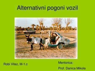 Alternativni pogoni vozil