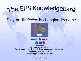 Easy Audit  Online is changing its name