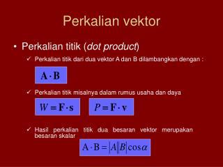 Perkalian vektor
