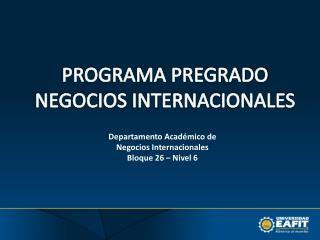 Departamento Académico de Negocios Internacionales Bloque 26 – Nivel 6