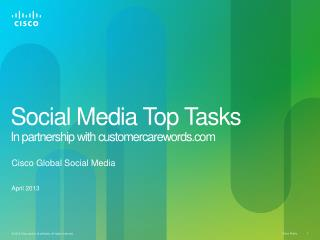 Social Media Top Tasks In partnership with customercarewords