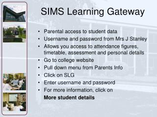 SIMS Learning Gateway