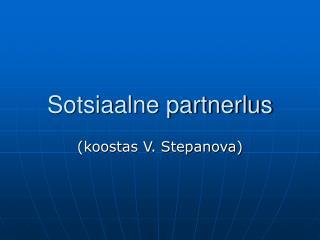 Sotsiaalne partnerlus