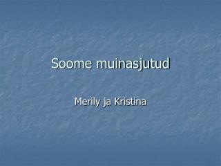 Soome muinasjutud