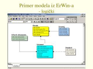 Primer modela iz ErWin-a - logički