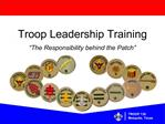 Troop Leadership Training