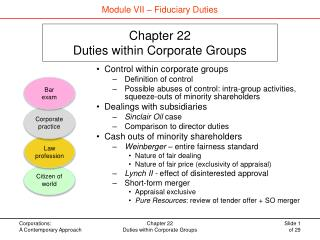 Chapter 22 Duties within Corporate Groups