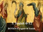 5. Isaiah 6-12