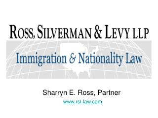 Sharryn E. Ross, Partner rsl-law