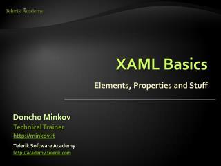 XAML Basics