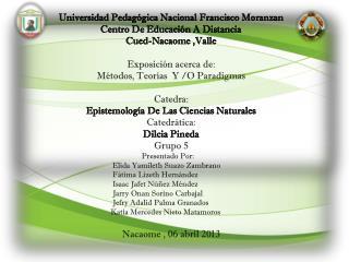 Universidad Pedagógica Nacional Francisco Moranzan Centro De Educación A Distancia