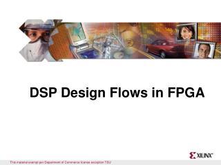DSP Design Flows in FPGA