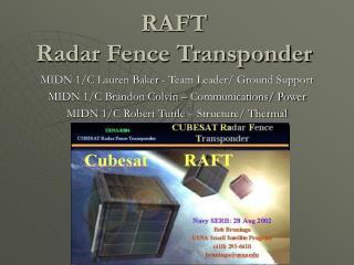 RAFT Radar Fence Transponder