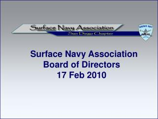 Surface Navy Association Board of Directors 17 Feb 2010