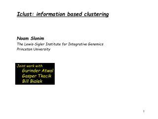 Iclust: information based clustering