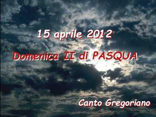 15 aprile 2012
