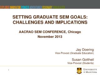 SETTING GRADUATE SEM GOALS: CHALLENGES AND IMPLICATIONS