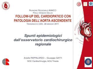Spunti epidemiologici dall'osservatorio  cardiochirurgico  regionale