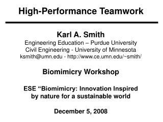 High-Performance Teamwork